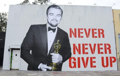 Someone Immortalized Leonardo DiCaprio's Oscar Win With a Giant Mural