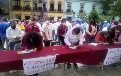 Inicia Morena campaña para recabar firmas y así juzgar a expresidentes