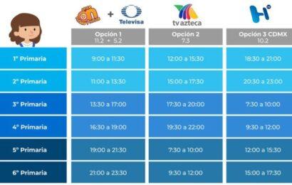 Estos son los horarios de clases de la SEP