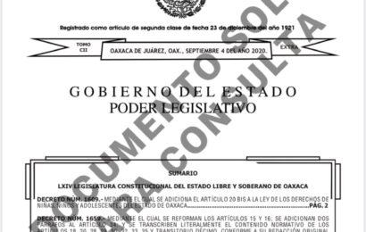 Pública el gobernador Alejandro Murat ley «antichatarra» en el Periódico Oficial