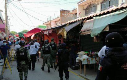 Vigila Guardia Nacional uso de cubrebocas en Juchitán