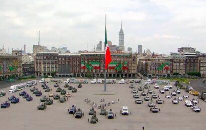 Sin público y con medidas sanitarias, así se llevó a cabo el desfile militar por la Independencia de México