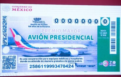 Se han vendido mil 907 mdp en billetes para rifa por avión presidencial
