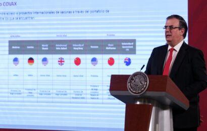 Covax cubrirá de vacuna contra Covid-19 a 20% de los mexicanos: Ebrard