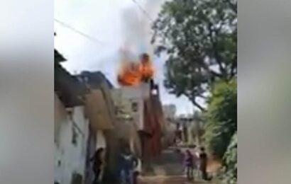 Controlan bomberos incendio en domicilio de la ciudad de Oaxaca