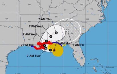 Sally se intensifica a huracán categoría 1; alerta en Luisiana por posible impacto