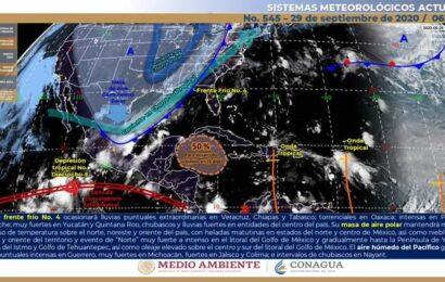 Frente frío No. 4 traerá lluvias torrenciales a Oaxaca