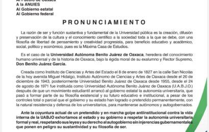 Respalda ANUIES proceso autónomo para elegir rector en la UABJO