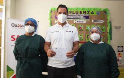 Exhorta el gobernador Murat Hinojosa, vacunarse contra influenza