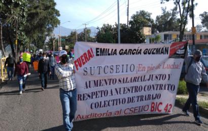Trabajadores del Sutcseiio estallan en huelga