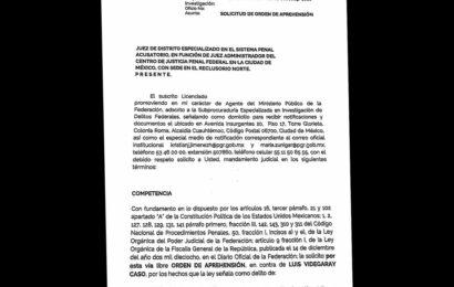 Filtran presunto pedido de aprehensión de Videgaray; FGR no confirma