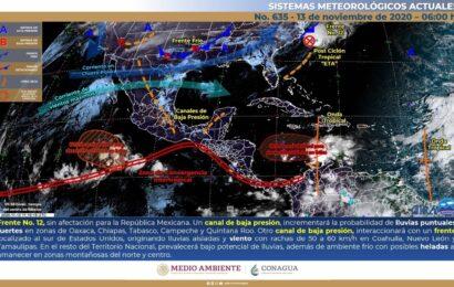 Prevé SMN lluvias y bajas temperaturas en algunas zonas del país