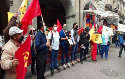 Organizaciones protestan para exigir apoyos para pueblos indígenas