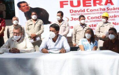 Trabajadores de Vectores de SSO, reiteran destitución de hermanos acusados de corrupción