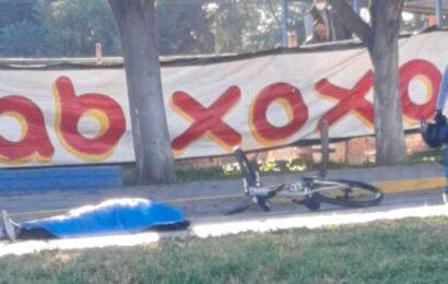 Fallece ciclista atropellada por autobús en Oaxaca