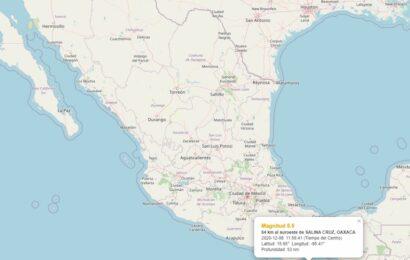 Sismo de magnitud 5.5 en Oaxaca