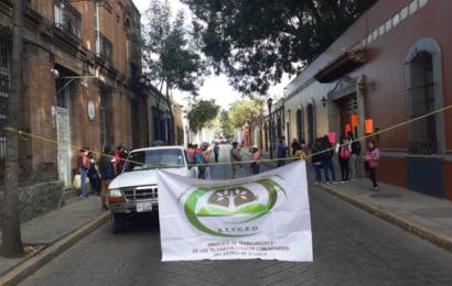 Telebachilleratos Comunitarios cierran Casa Oficial, exigen respeto a sus plazas