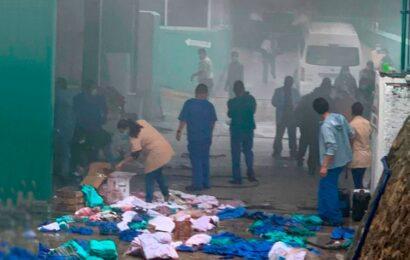 Se incendia bodega de clínica familiar del IMSS en Tuxtepec