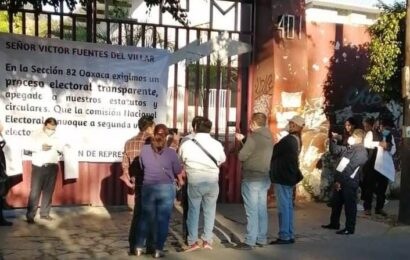 Pese a casos de COVID, trabajadores afiliados al SUTERM protestan en Oaxaca