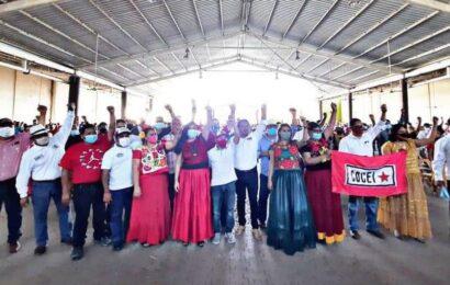 Montero y Gloria Sánchez encabezan lista de candidatos de Morena a edil de Juchitán