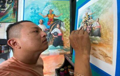 Pintor de Xadani ilustrará libros de tercer grado que distribuye la SEP