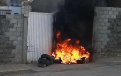 Incendian cuartel de la policía municipal de Tehuantepec