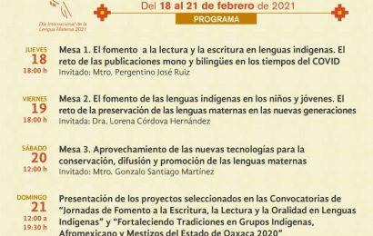 Realiza Seculta Jornada de Lenguas Maternas: Oaxaca frente a los retos de 2021