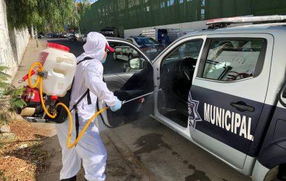 Realiza Ayuntamiento de Oaxaca quinta desinfección del parque vehicular de la Policía Municipal