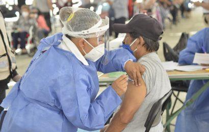 Saldo blanco durante la jornada de vacunación anticovid en Oaxaca de Juárez