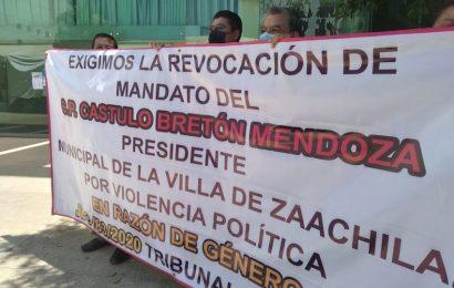 Piden revocación de mandato de edil de Zaachila en el Congreso estatal