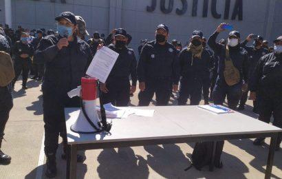 Policías Estatales piden renuncia de Raúl Ernesto Salcedo al frente de la SSP