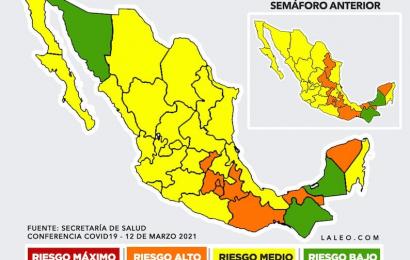 Oaxaca podría pasar al semáforo epidemiológico color amarillo este viernes