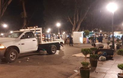 Desalojan a comerciantes en el zócalo de Oaxaca