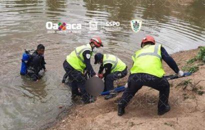 Rescatan cuerpos de dos menores de edad que murieron ahogados en una presa de Xoxocotlán
