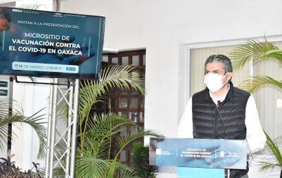 Presentan los SSO y el IAIP microsito de vacunación contra el COVID-19 en Oaxaca
