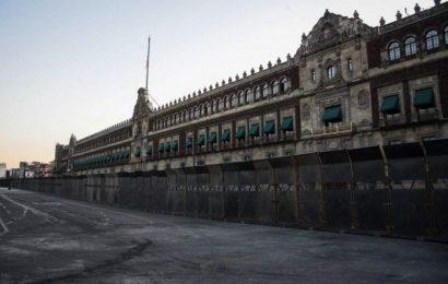 Blindado como anticipando una guerra: la dura imagen de Palacio Nacional a cuatro días del Día Internacional de la Mujer