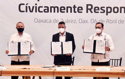 Firma Murat Pacto por un Proceso Electoral Cívicamente Responsable