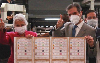 Arranca INE producción de boletas para las elecciones de junio
