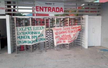 Amaga San Baltazar Loxicha con reventar elecciones en junio; exigen elección extraordinaria
