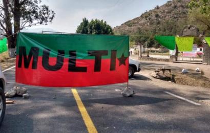 Integrantes del MULTI bloquean en Hacienda Blanca y en la Mixteca