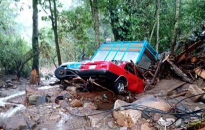 Lluvia provoca daños materiales en Santiago Clavellinas, Zimatlán, Oaxaca