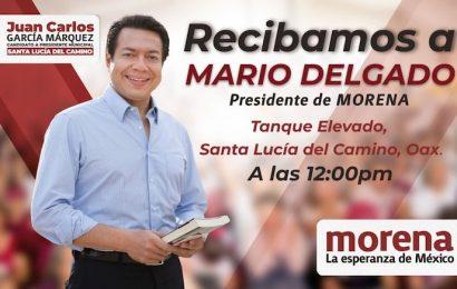 Líder de Morena visita Valle Centrales de Oaxaca para respaldar a candidatos