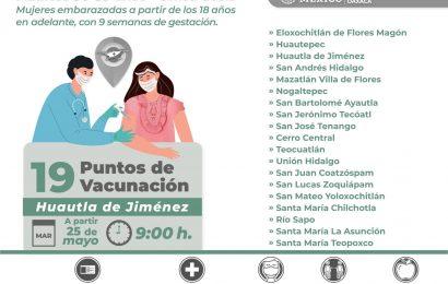 Municipios de la Mixteca y Cañada vacunarán este martes contra la COVID-19