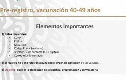 Ya está activo el registro para vacunar a personas de 40 a 49 años!