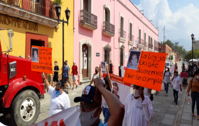 Con marcha, mujeres exigen comité de búsqueda en Oaxaca