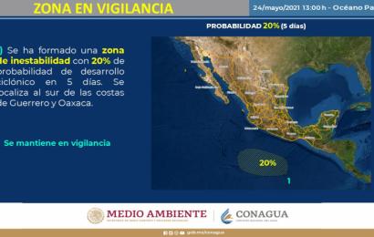 Alerta Conagua sobre posible formación de ciclón en costas de Oaxaca