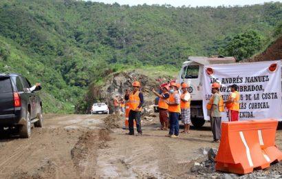 Se reinician trabajos en la autopista a la Costa en el tramo de los Coatlanes