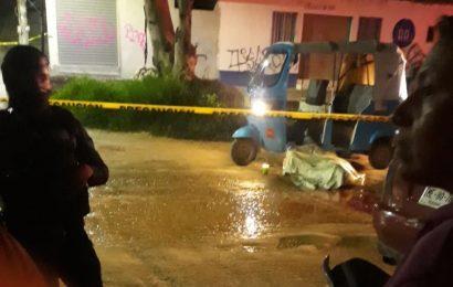 Matan a mototaxista en la colonia Sabino Crespo en la capital oaxaqueña