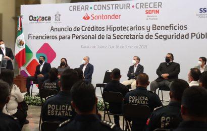 Anuncia Murat créditos hipotecarios para policías y bomberos