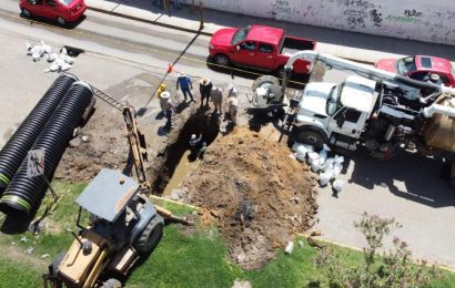 Avanzan tareas de reparación en asentamiento ubicado en Parque del Amor: SAPAO